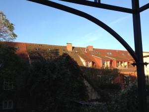 Blick aus dem Fenster der Romanwerkstatt in Potsdam